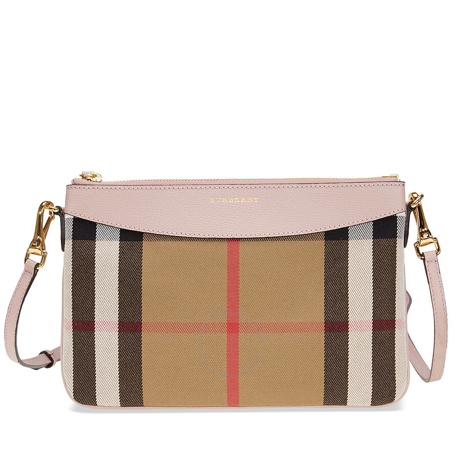 765336552a66 Burberry Horseferry Check Leather Clutch - Pale Orchid Item No. 3996884