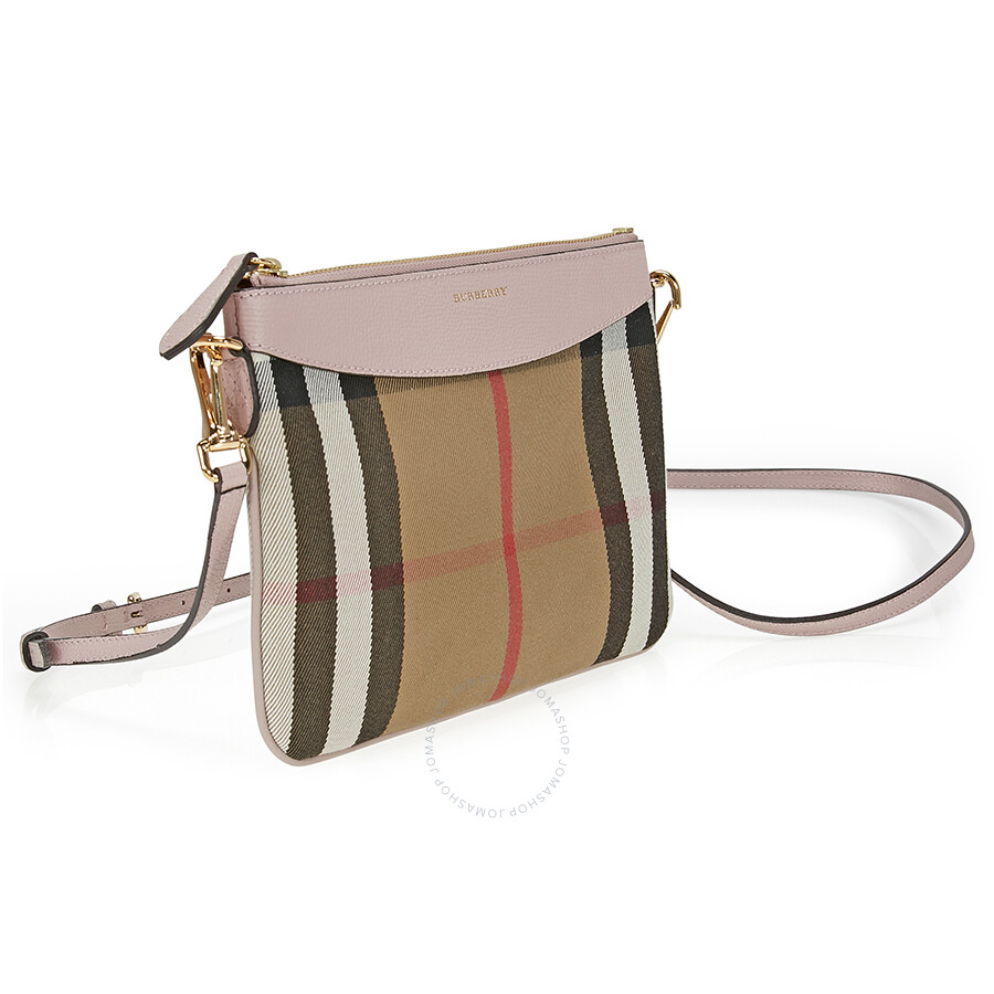 67d05ac37937 Burberry Horseferry Check Leather Clutch - Pale Orchid - Burberry ...