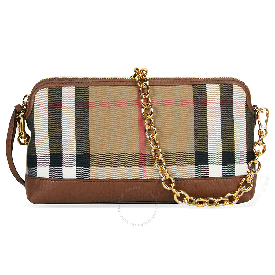 Leather Gmbh Contact Us Email Sales Mail: Burberry House Check And Leather Clutch