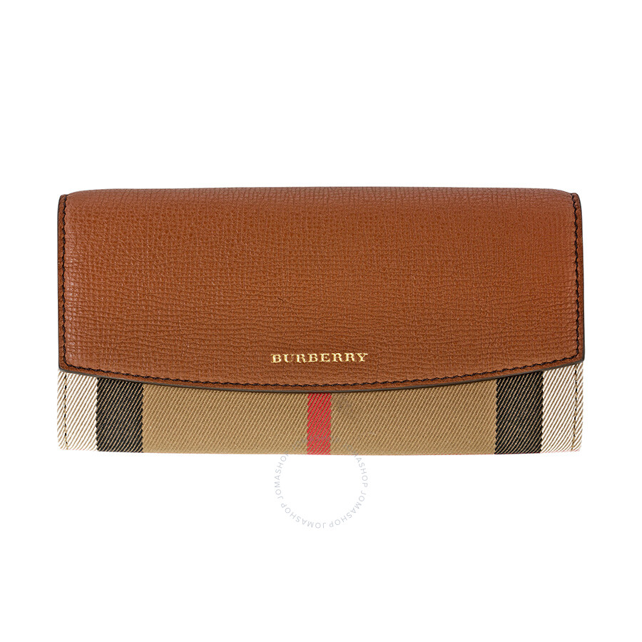 Leather Gmbh Contact Us Email Sales Mail: Burberry House Check And Leather Continental Wallet