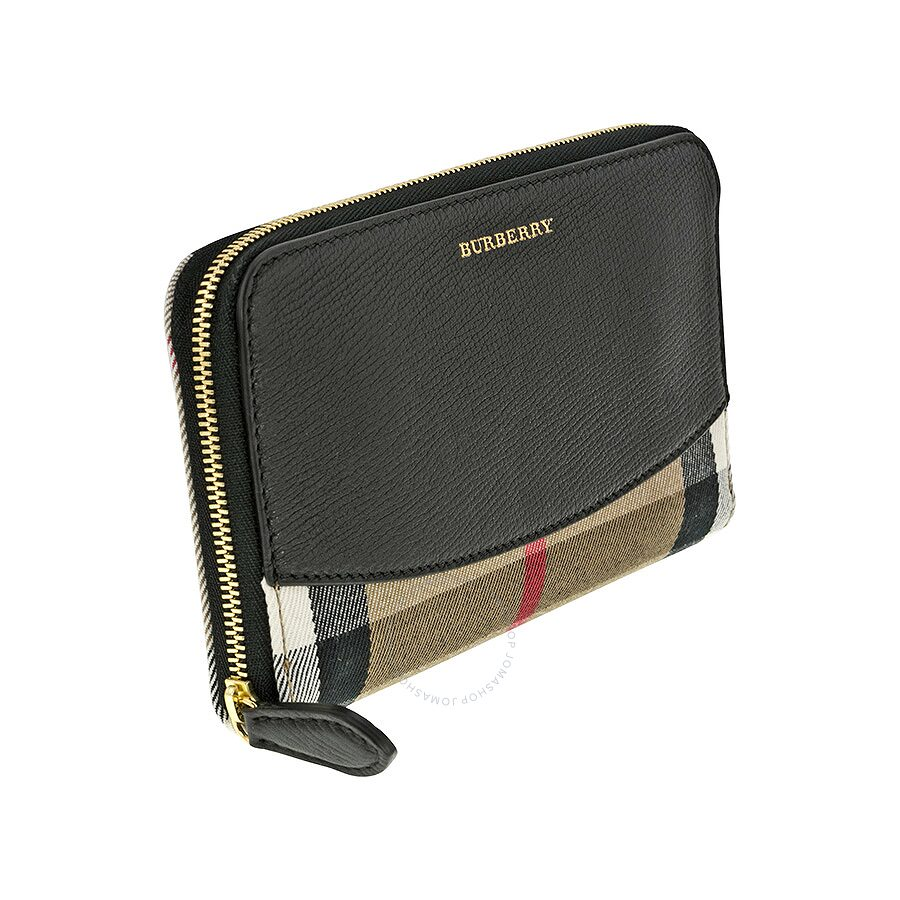 d1eb906f458b Burberry House Check Sartorial Leather Wallet - Black - Burberry ...