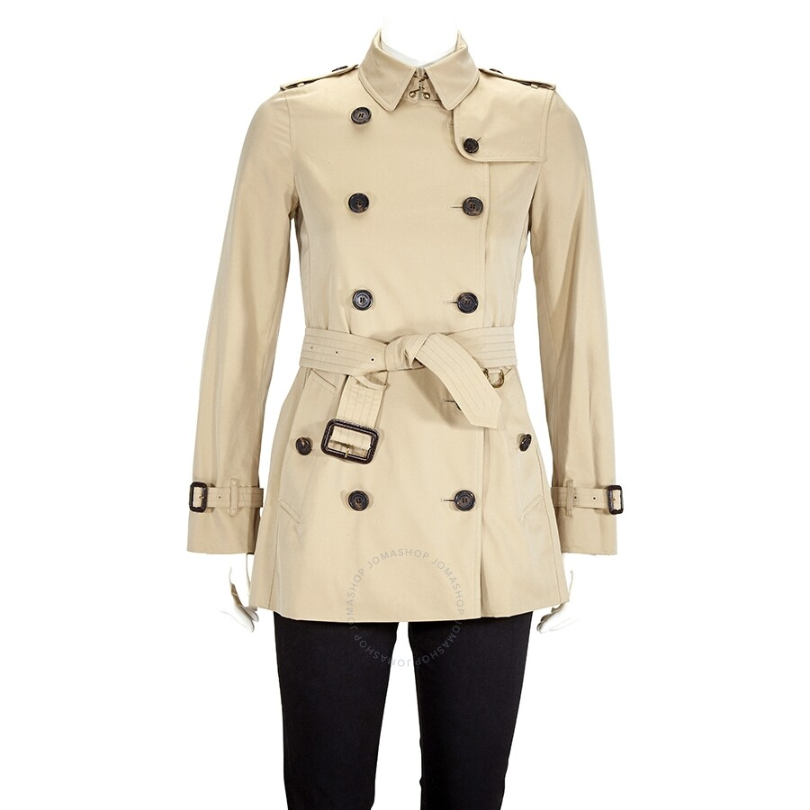 Ladies Heritage Honey Kensington Dk Short Trench Coat by Burberry