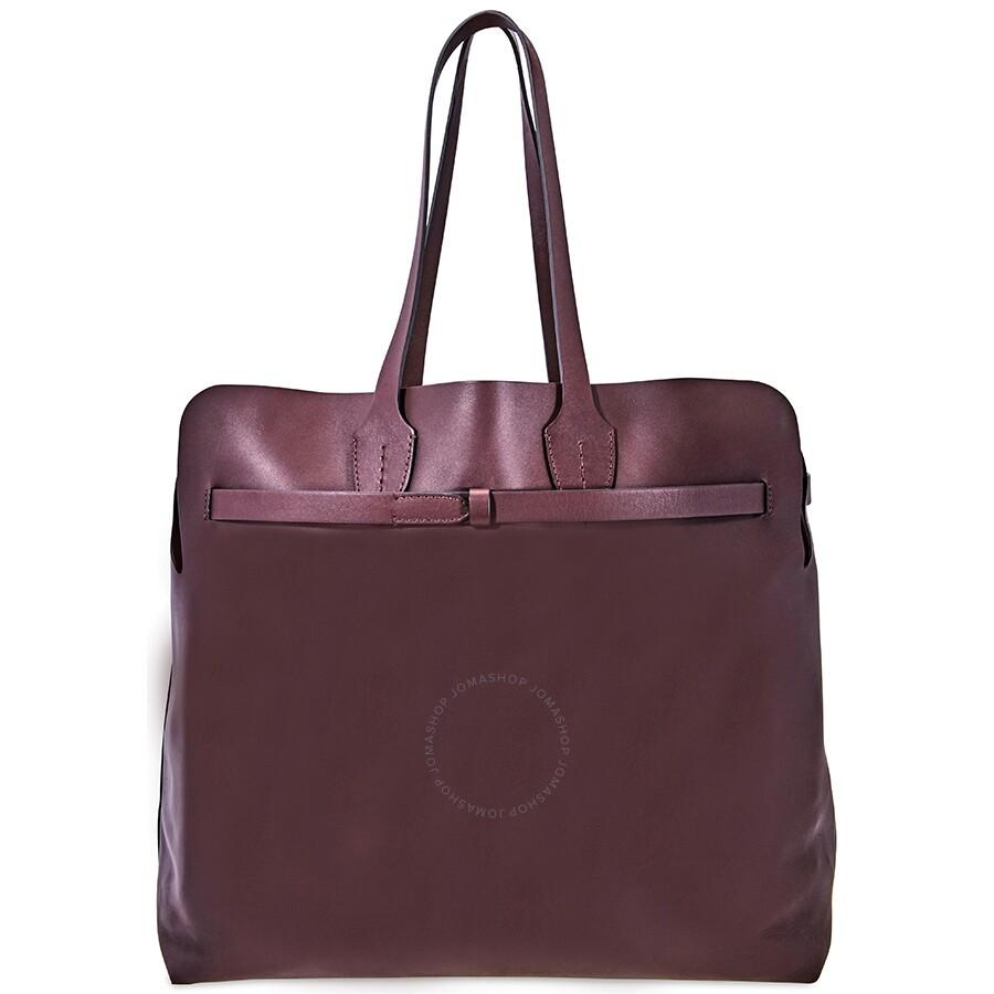ce97be23a6e3 Burberry Large Soft Leather Belt Bag- Deep Claret Item No. 8006555