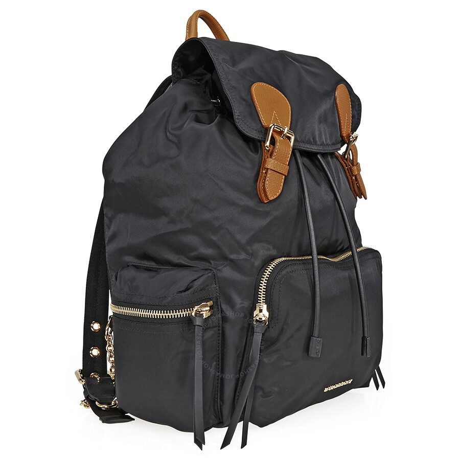 0be198af6db8 Burberry Large Technical Nylon and Leather Rucksack - Black ...