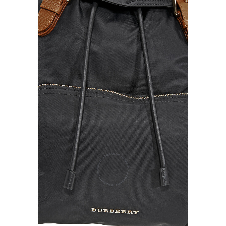 43800059d3bb Burberry large technical nylon and leather rucksack black jpg 900x900 Black leather  rucksack