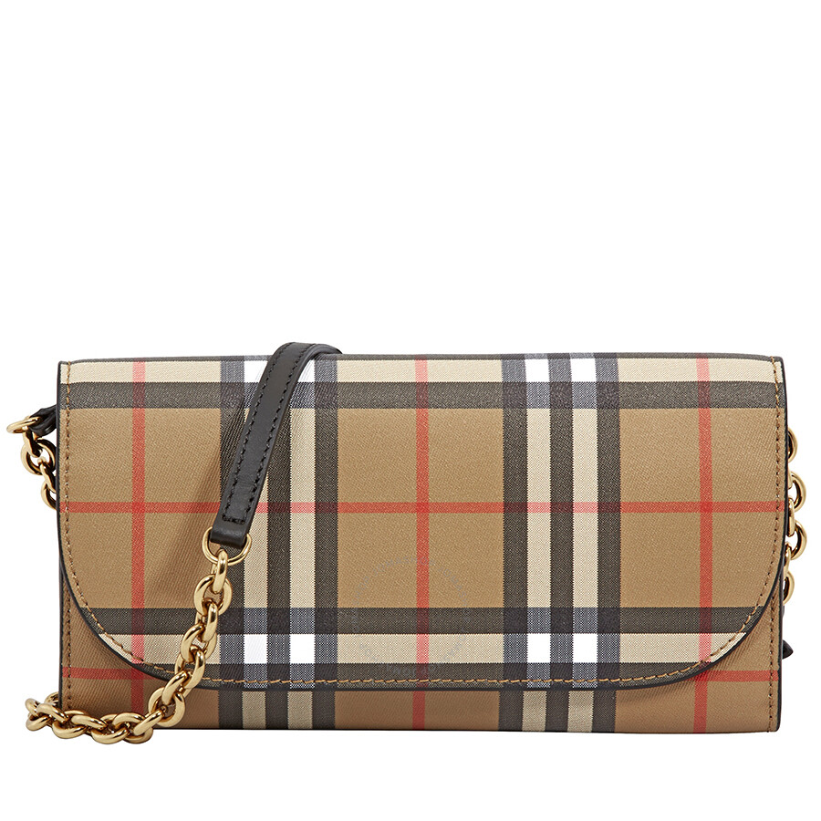 8444a4b541c4 Burberry Large Vintage Check Leather Wallet- Black Item No. 4073220