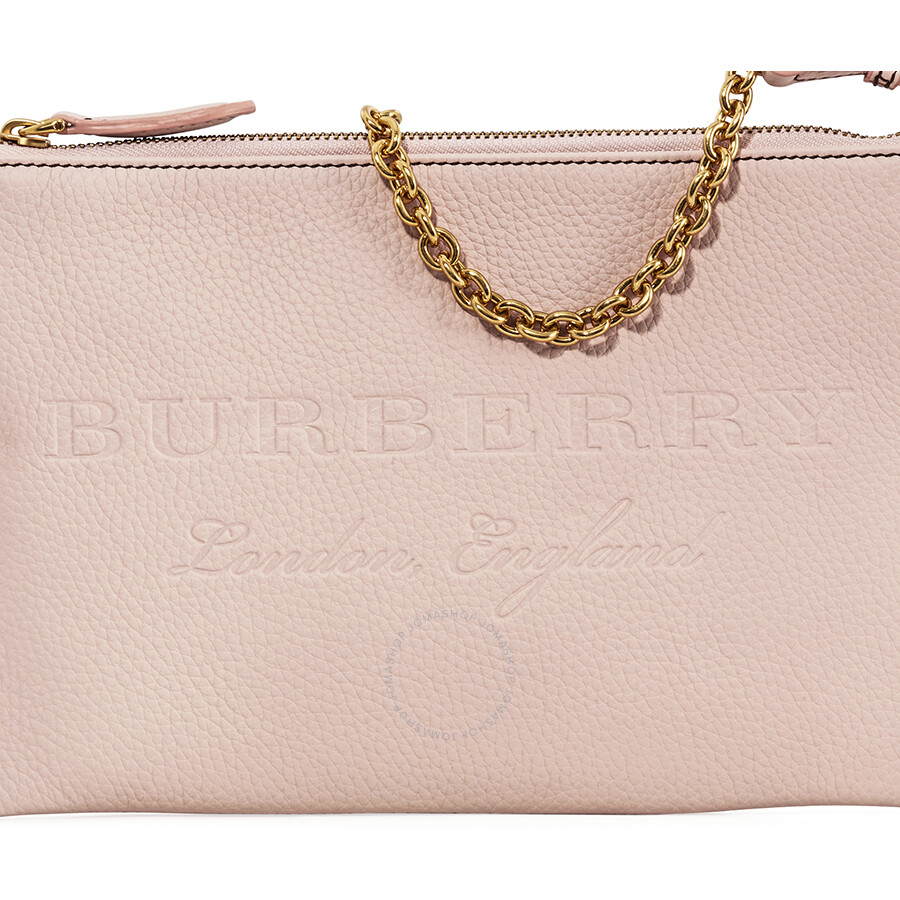 Burberry Leather Clutch Bag Pale Ash Rose
