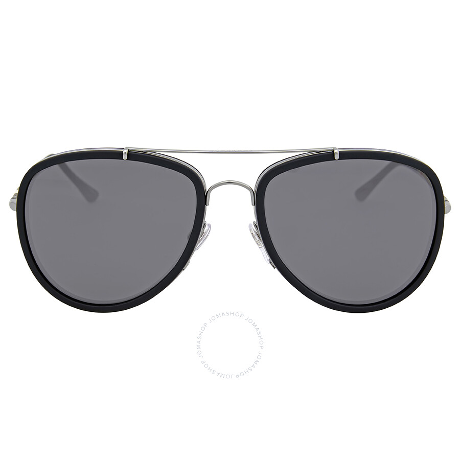 4a13e5190ea Burberry Matte Black Metal Aviator Sunglasses - Burberry ...