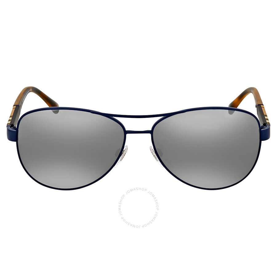 c0f19586afb3f Burberry Matte Blue Aviator Sunglasses - Burberry - Sunglasses ...