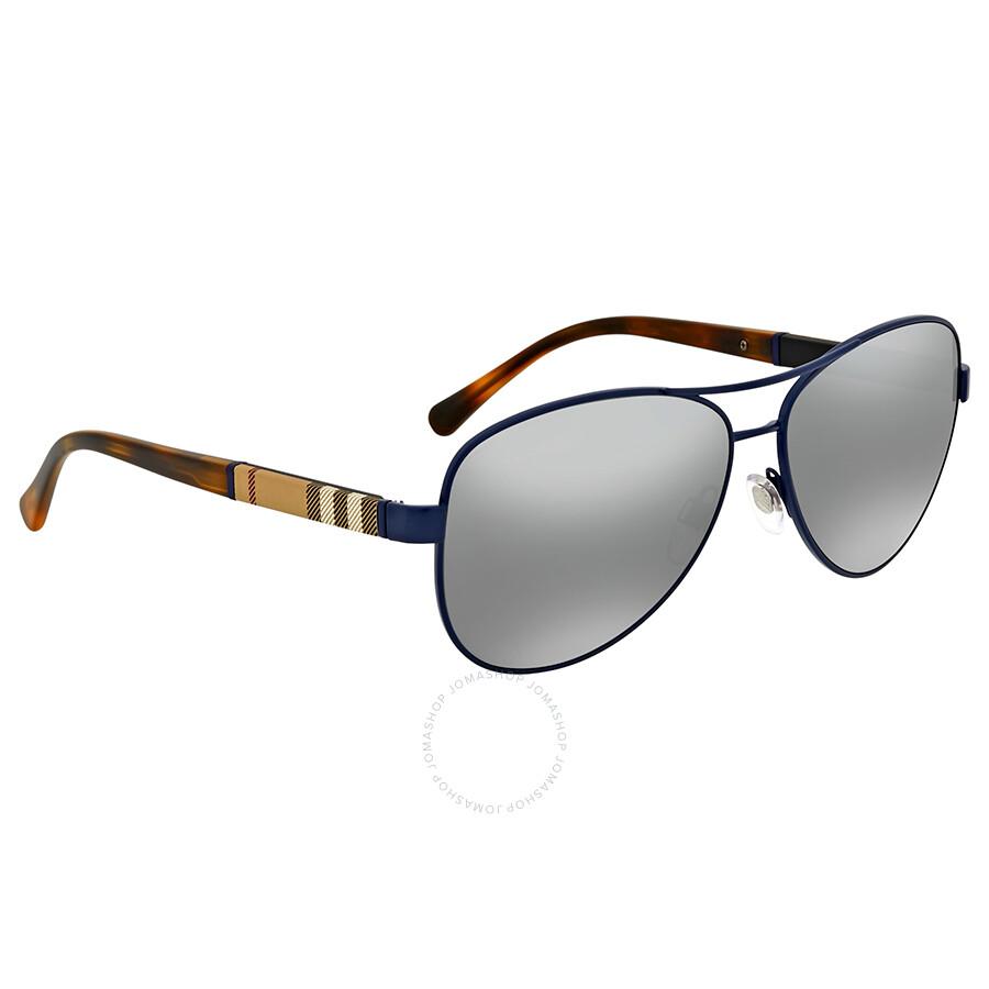c4af2b90a33c Burberry Matte Blue Aviator Sunglasses Burberry Matte Blue Aviator  Sunglasses ...