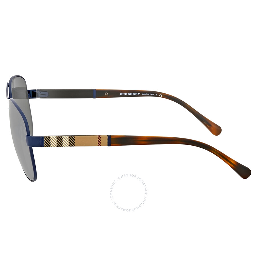 aad7415940d6f Burberry Matte Blue Aviator Sunglasses - Burberry - Sunglasses ...