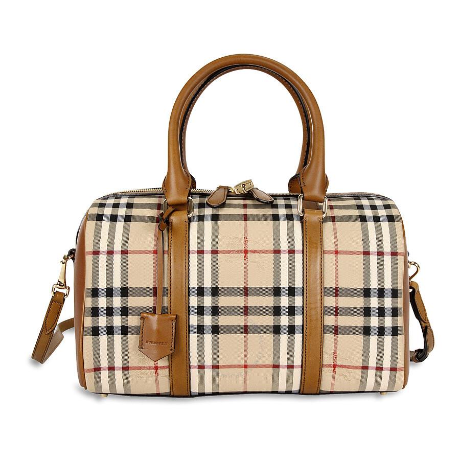 burberry medium alchester horseferry check bowling bag honey tan burberry handbags. Black Bedroom Furniture Sets. Home Design Ideas