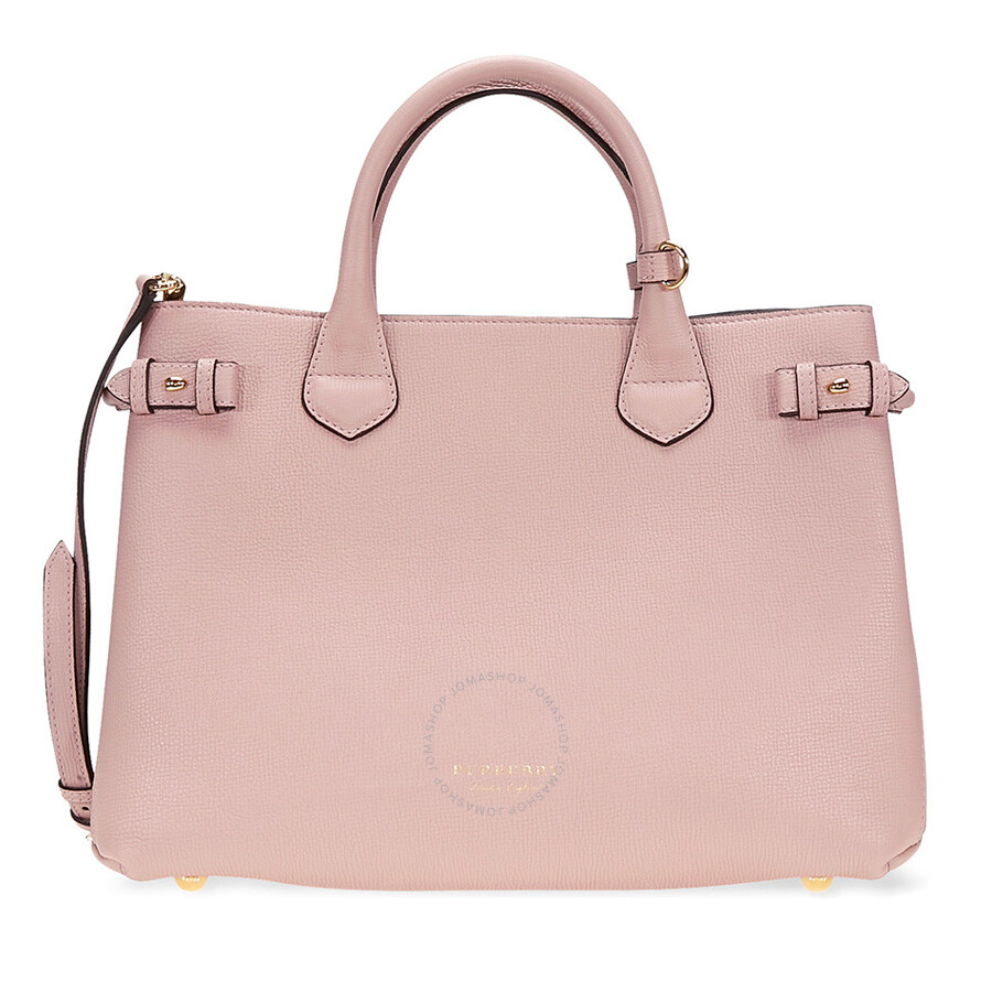 68273e6527 Burberry Medium Banner Calfskin Leather Tote- Pale Orchid Item No. 4023694