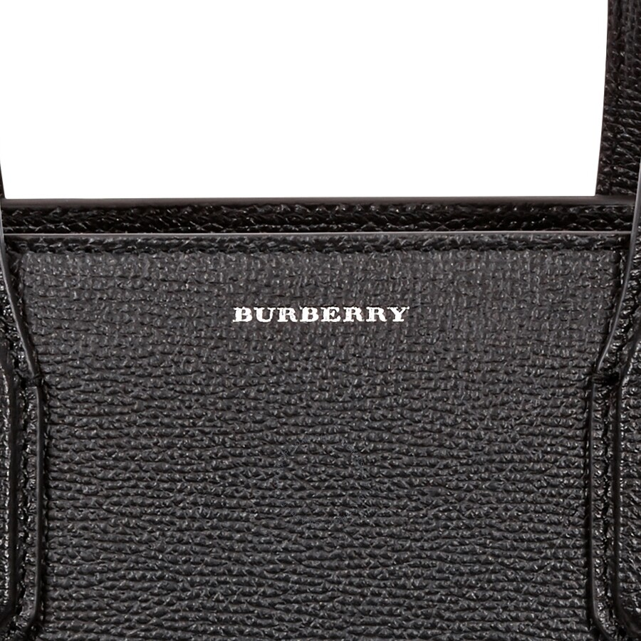 caf739344 Burberry Medium Banner in Leather and Vintage Check- Black ...