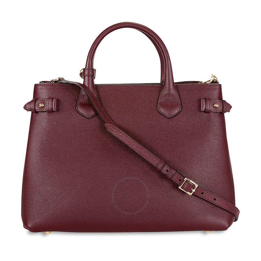 Burberry Medium Banner Leather Tote - Mahogany Red - Burberry ... eb96bba4ee