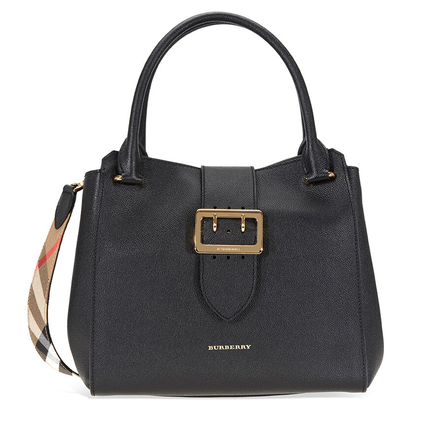 c7d01a68ea Burberry Medium Buckle Tote - Black - Burberry Handbags ...