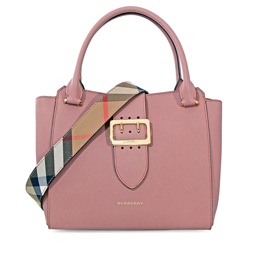 Burberry Medium Buckle Tote - Dusty Pink - Burberry Handbags ... 423c2f9384c44