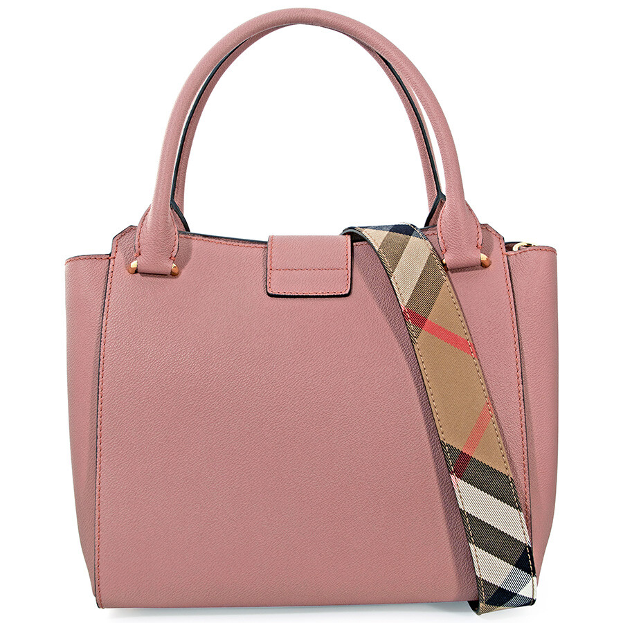 ed9cc787dc84 ... Pink Handbags. Burberry Grainy Calfskin Medium Baynard Tote Pink Azalea  328935. Burberry Horseferry Check And Leather Clutch Ash Rose Dusty Pink  Item No ...