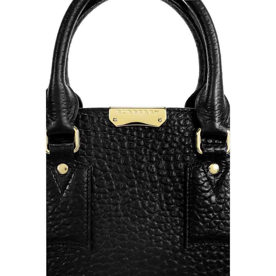 Burberry Medium Clifton Signature Grain Leather Satchel - Black ... b2a7c219f1044