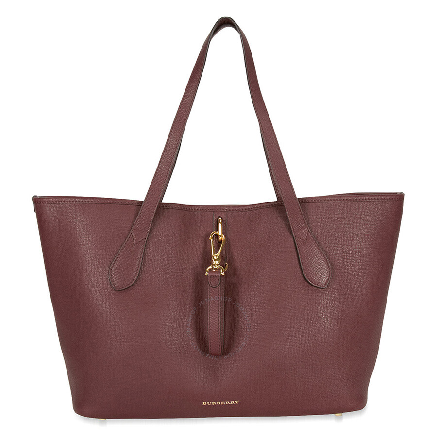 199d95c015d Burberry Medium Grainy Leather Tote Bag - Mahogany Red Item No. 4020426