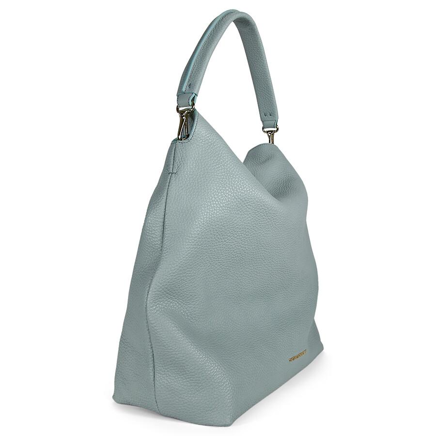 Burberry Medium Leather Hobo Bag - Sky Blue - Burberry Handbags ... e4456cba17af7