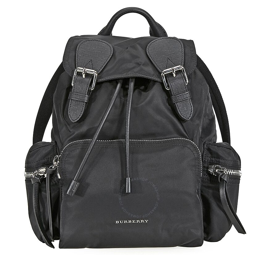 Burberry Medium Nylon and Leather Rucksack- Black Item No. 4048297 6ce0cb95a4199