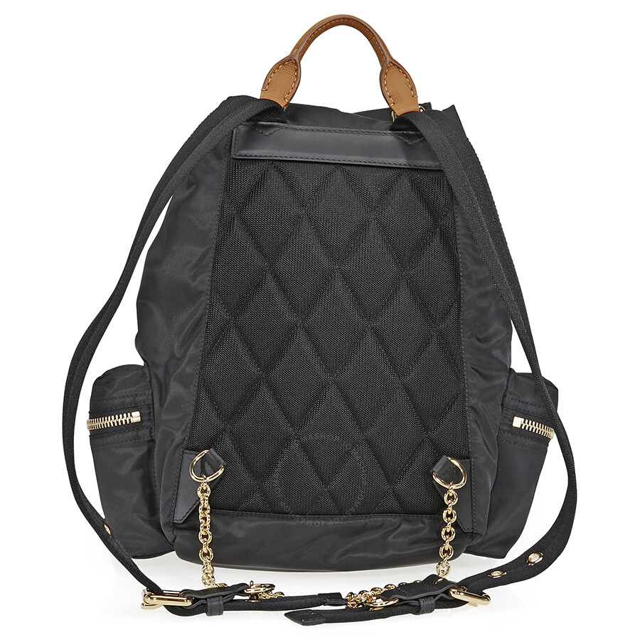 2ff01a23562a Burberry Medium Technical Nylon and Leather Rucksack - Black ...