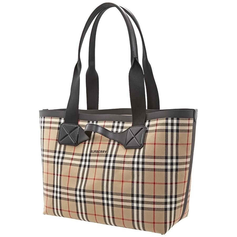 Burberry Medium Vintage Check Austen Tote Bag