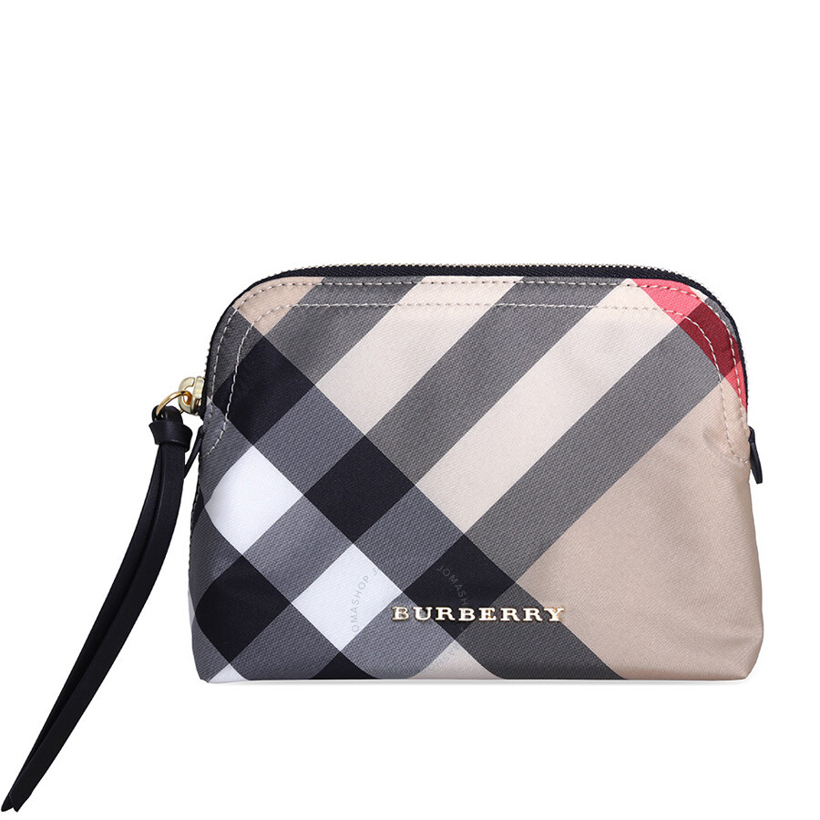 Burberry Medium Zip-top Technical Pouch - Camel - Burberry Handbags ... e9ddc6c07b889