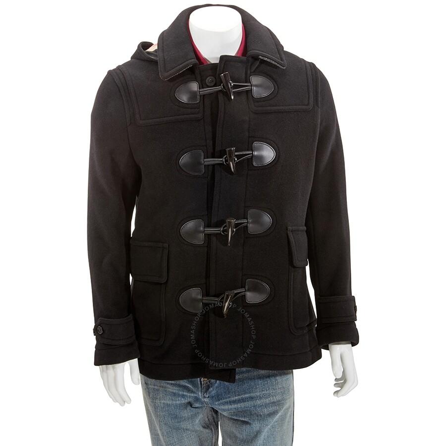Burberry Men S Black Plymouth Duffle Coat