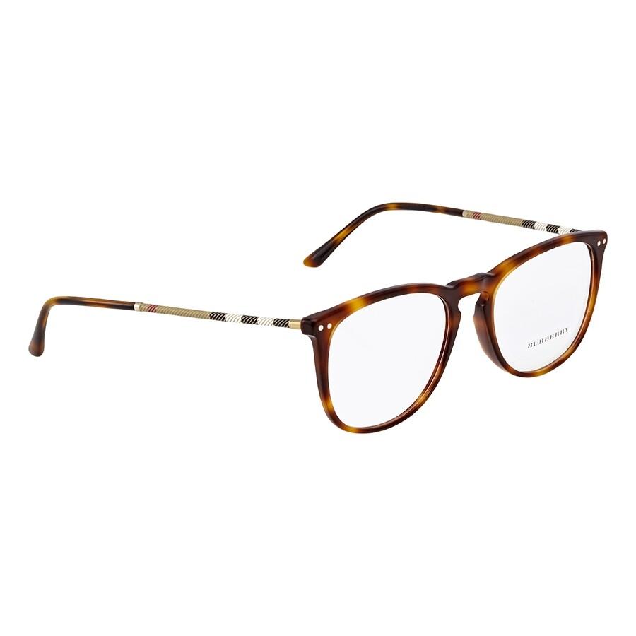 1ff47ce11e05 Burberry Light Havana Square Eyeglasses BE2258QF-3316-55 - Burberry ...