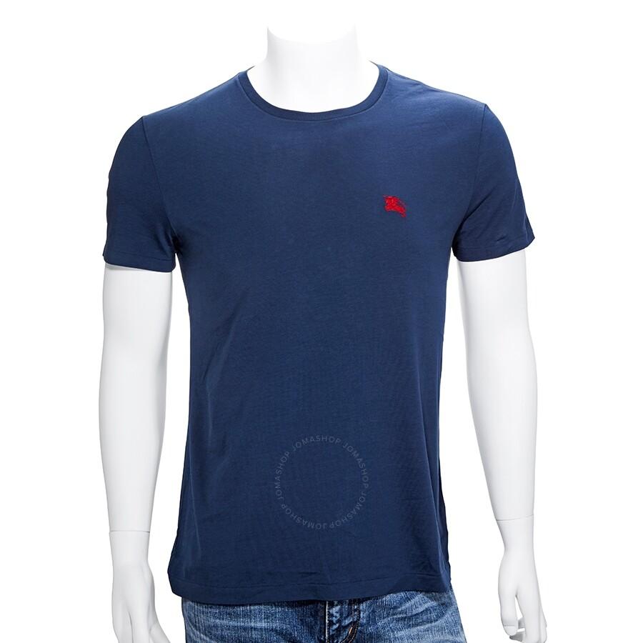 14cc668d827 Burberry Men s Navy Crew Neck T-Shirt- Size XXL - Apparel - Fashion ...