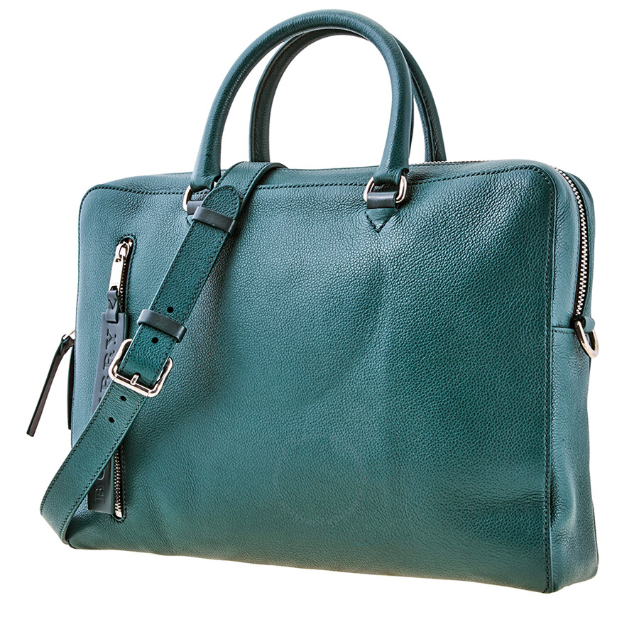 Leather Lt Blue London Ctrs Men's Zip Burberry Green Briefcase Spgr Briefcse Grainy 2IHYEWD9