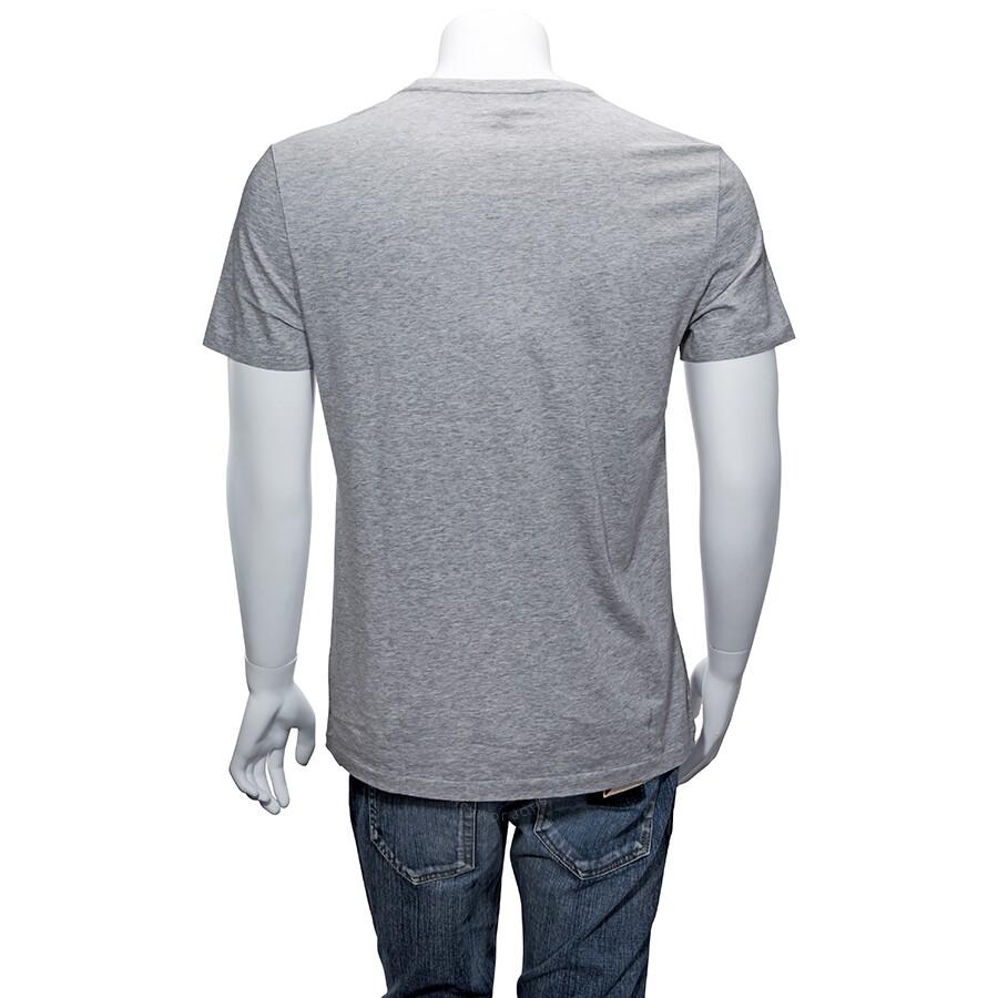 12968378b Burberry Men's Pale Grey Crew Neck T-Shirt- Size S - Apparel ...
