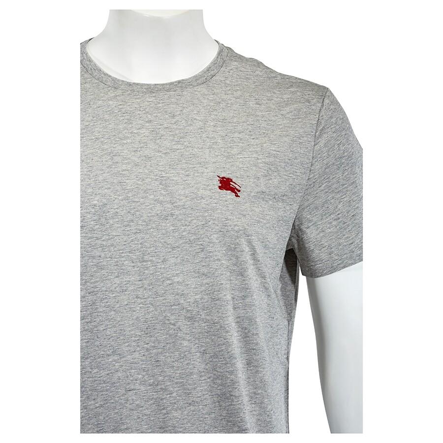 99ab39f9469f Burberry Men's Pale Grey Crew Neck T-Shirt- Size XL - Apparel ...