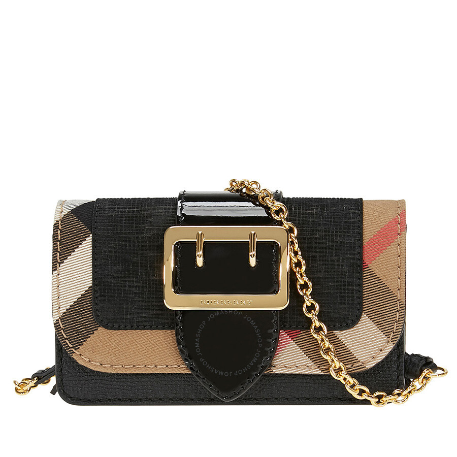 Burberry Mini Buckle Phone Bag Black