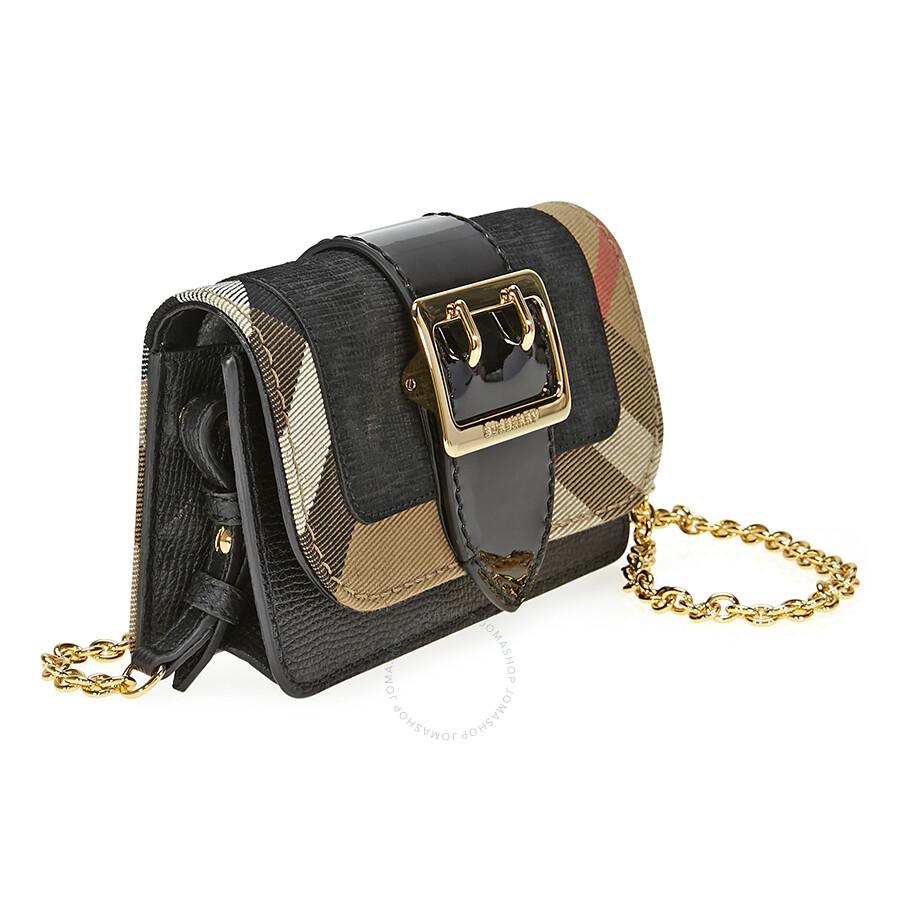 4c082a83f619 Burberry Mini Buckle Phone Bag- Black - Burberry Handbags ...