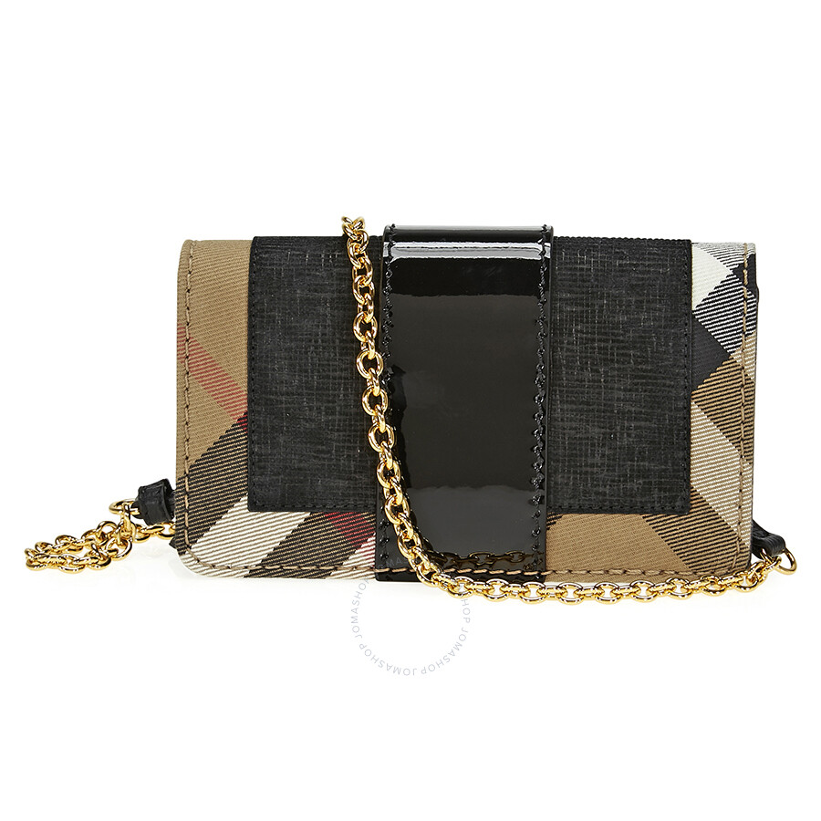 989f099d2f1 Burberry Mini Buckle Phone Bag- Black - Burberry Handbags ...
