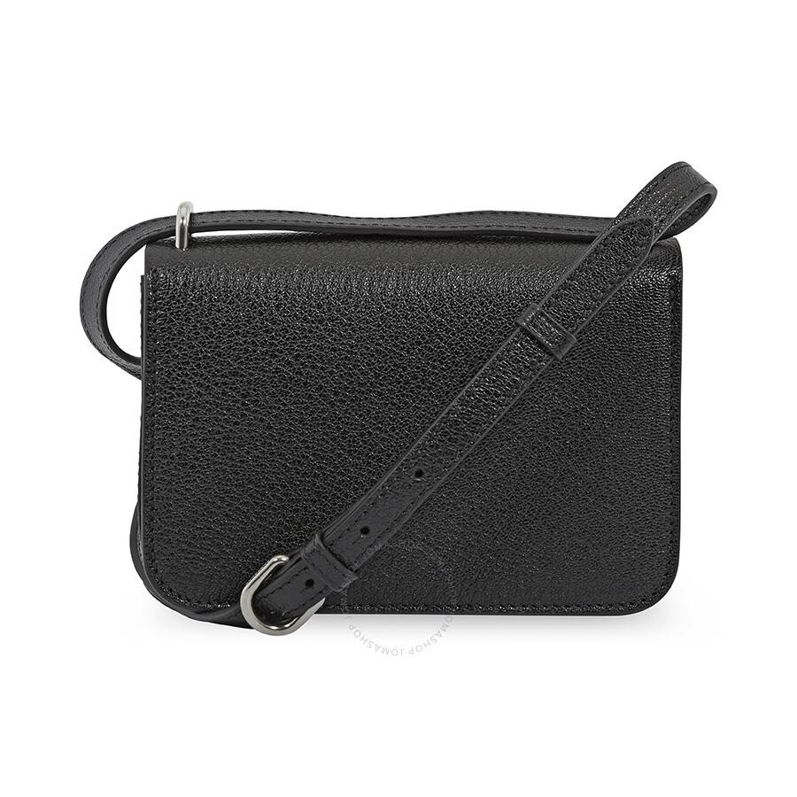 09d346604781 Burberry Mini Vintage Check and Leather D-ring Crossbody Bag- Black ...