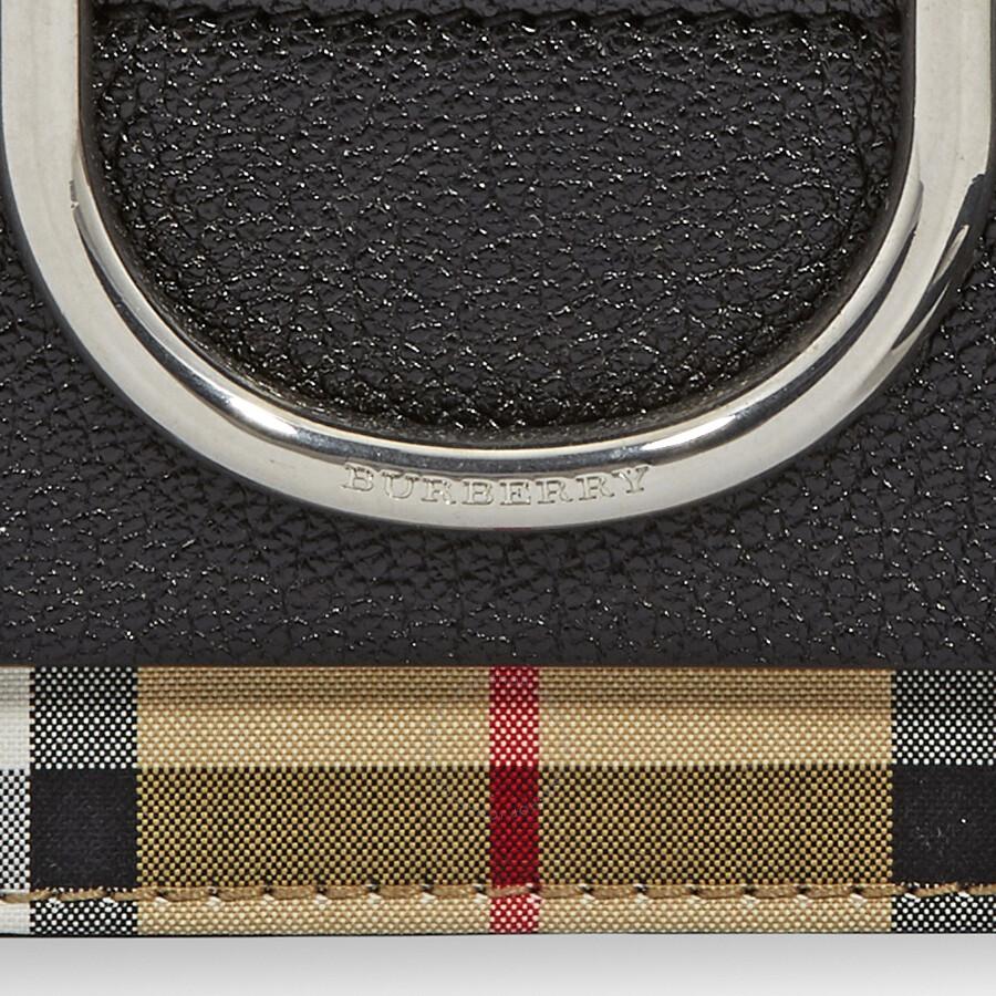 d215ecb60b7a Burberry Mini Vintage Check and Leather D-ring Crossbody Bag- Black ...