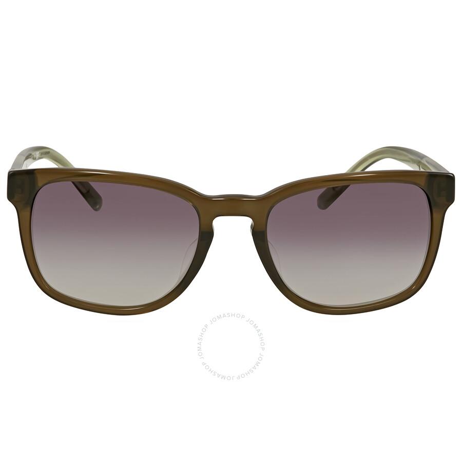6757524de8e1 Burberry Olive Green Square Sunglasses - Burberry - Sunglasses ...