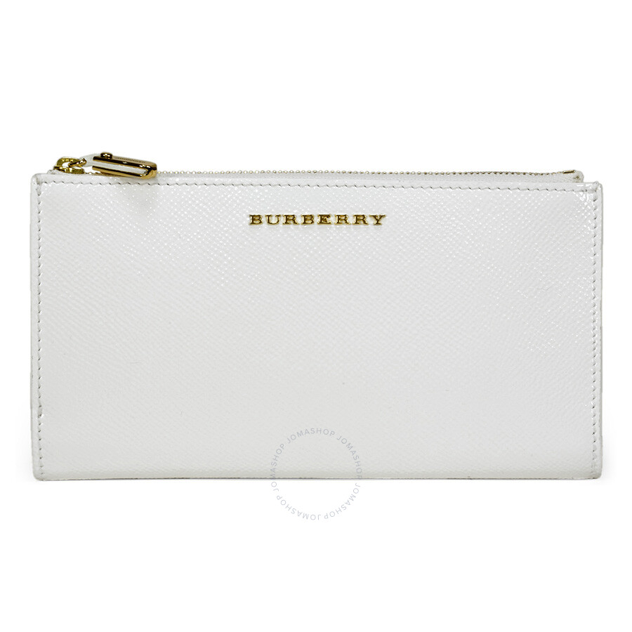 19a965b0266c Burberry Patent London Leather Continental Wallet - White Item No. 3925304