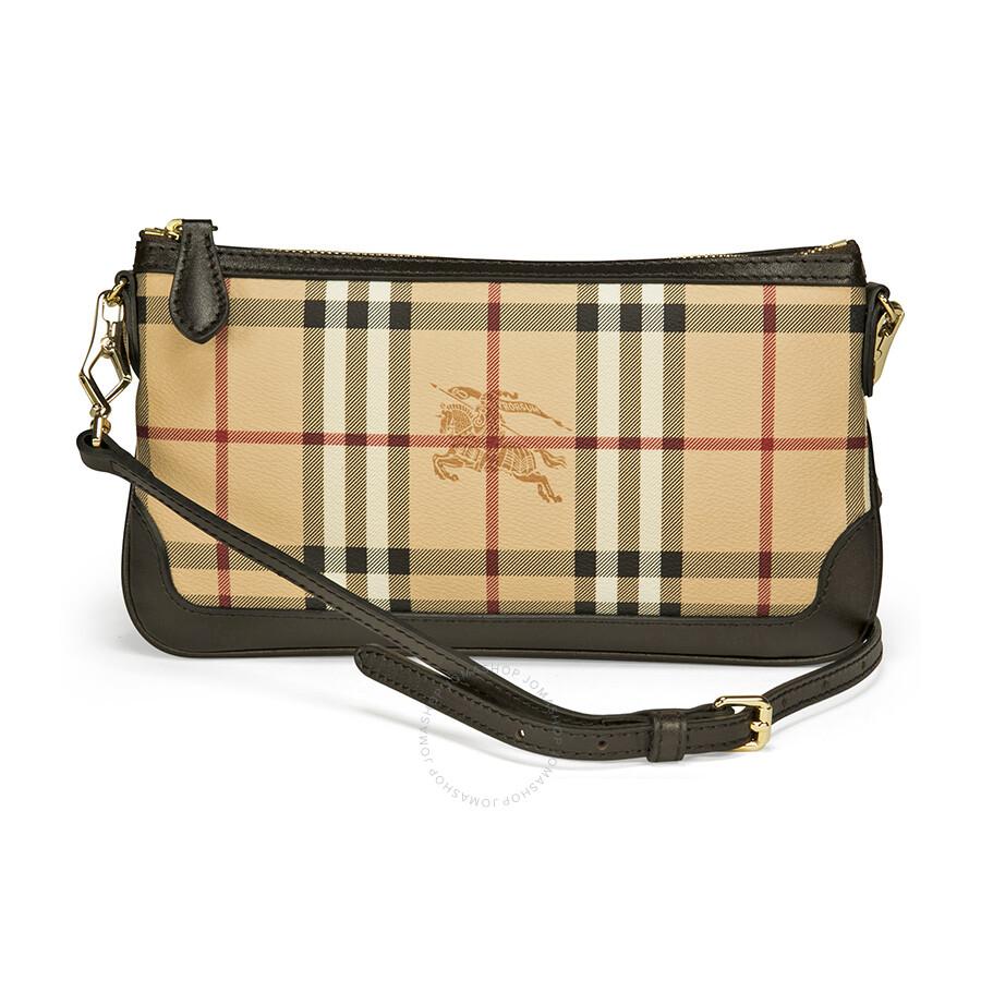 Burberry Peyton Haymarket Check Clutch Wristlet - Chocolate Item No.  37989711 ddc83cc434be2