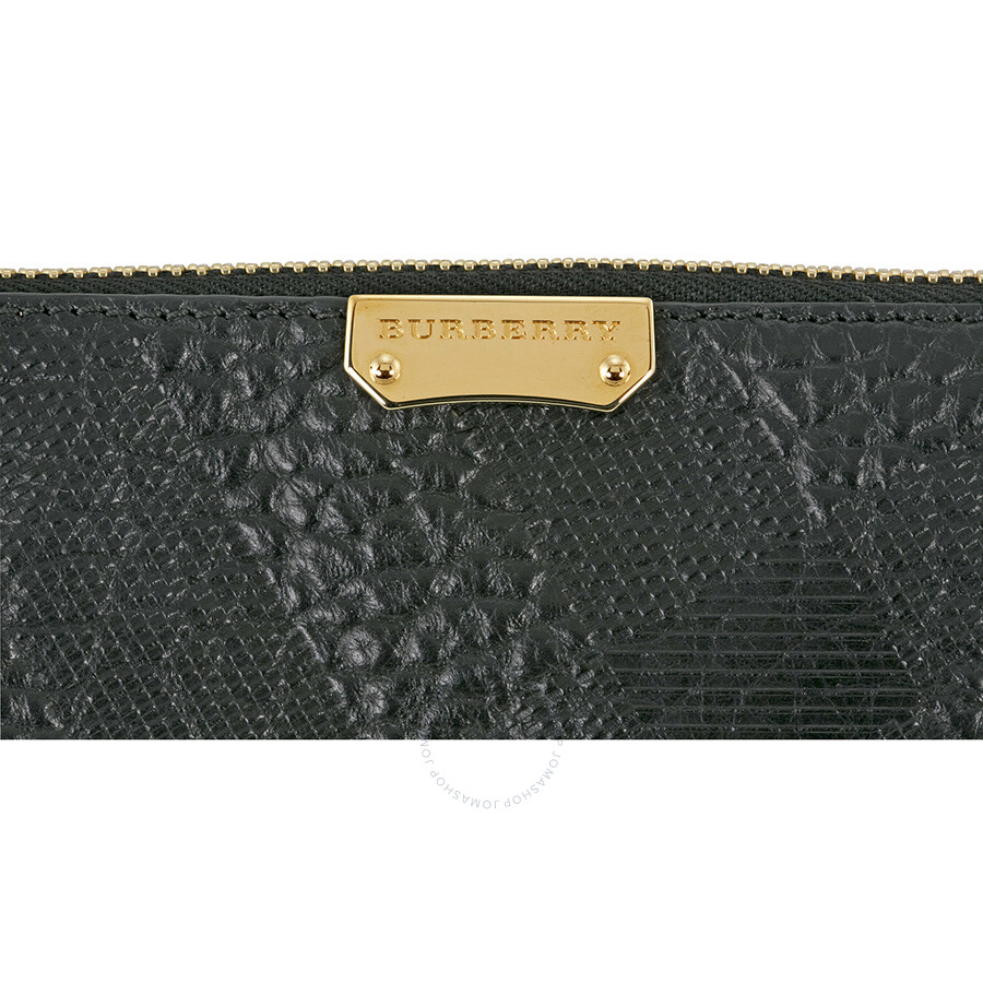 8db3440943ac Burberry Peytone Black Embossed Check Leather Crossbody Bag ...