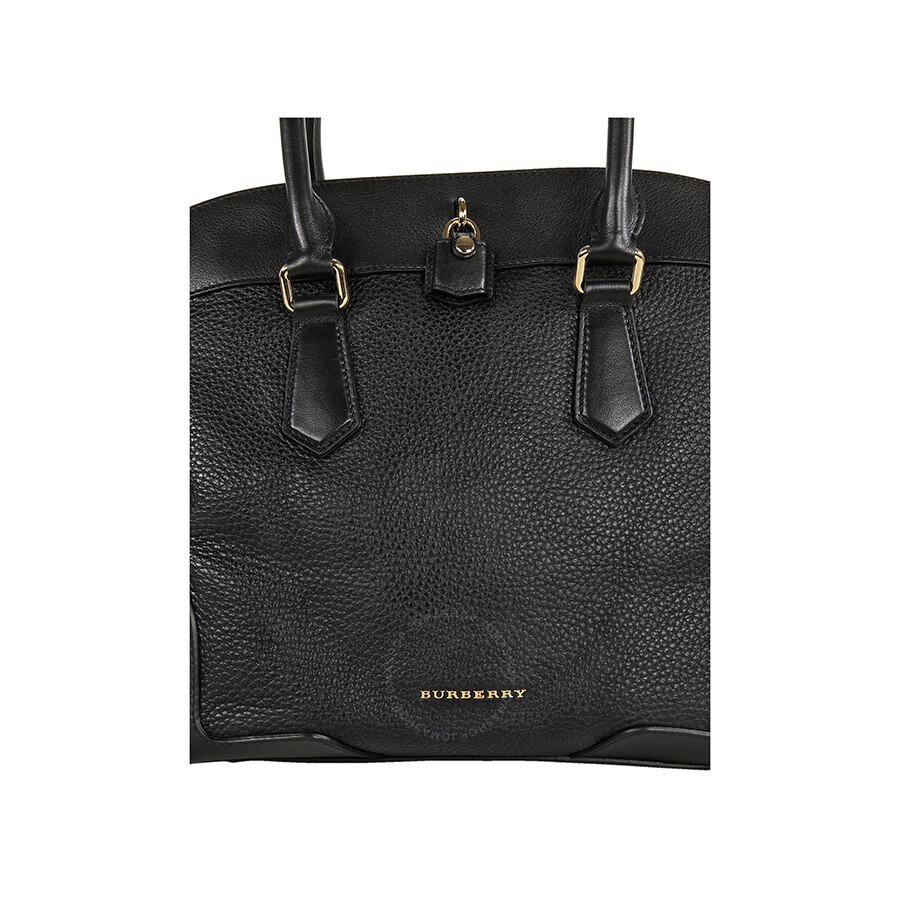 Burberry Primrose Leather Shoulder Bag Black