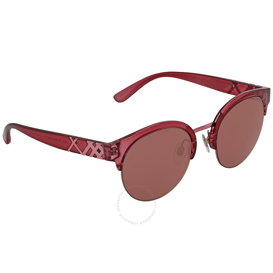 Burberry Round Bordeaux Sunglasses BE4241-367575-52 - Burberry ... f2c41a686f48