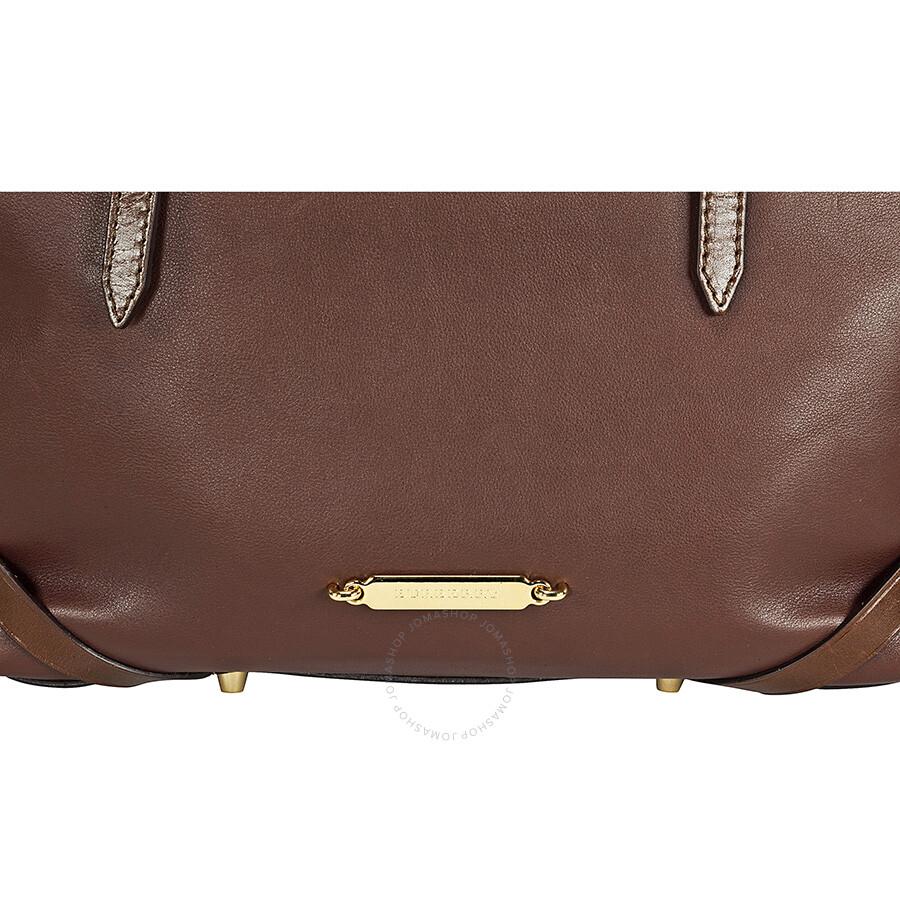 Burberry Salisbury Medium Dark Ochre Leather Tote 3903393