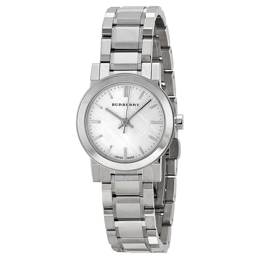 Burberry silver dial stainless steel watch bu9200 burberry watches jomashop for Burberry watches