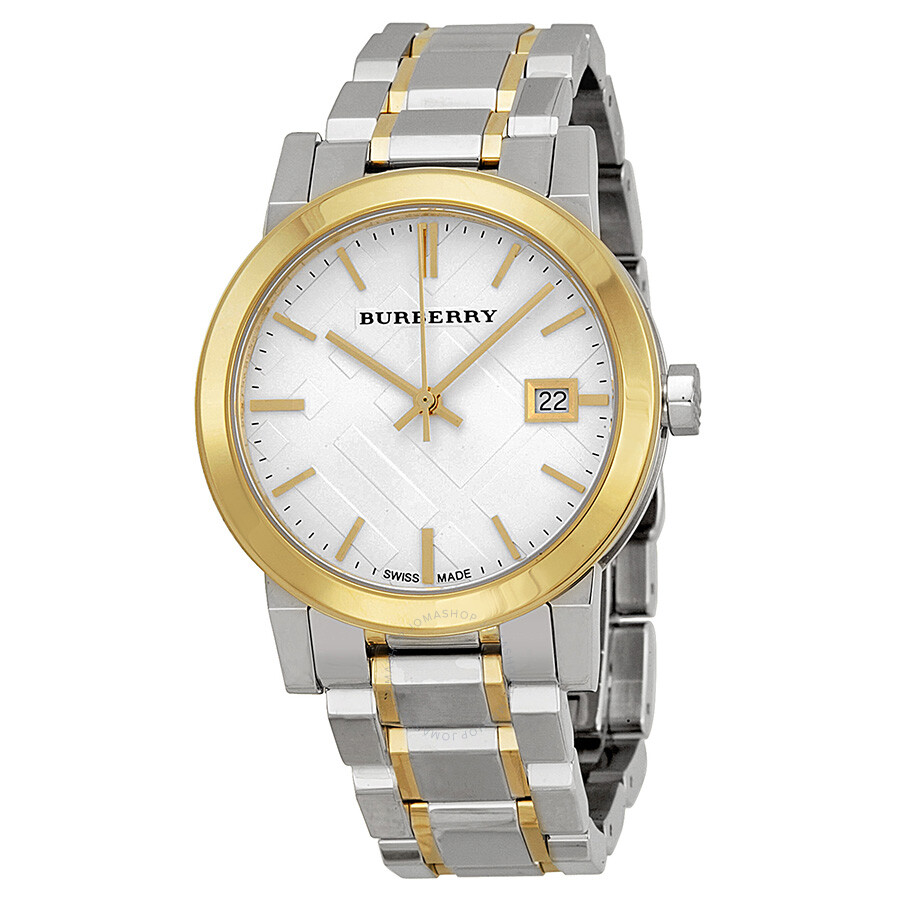 burberry silver two tone silver and gold tone