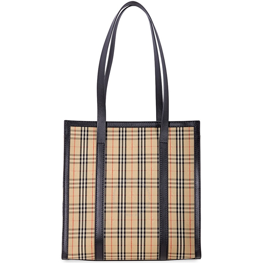 554d3a6a99ad Burberry Small 1983 Check Link Tote- Black - Burberry Handbags ...